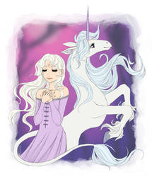 The Last Unicorn by NenijaDraws