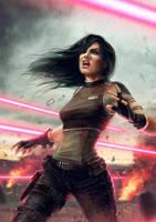 Laser battle by davidcobos