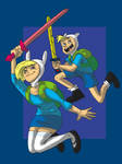 Finn and Fionna by DitaDiPolvere