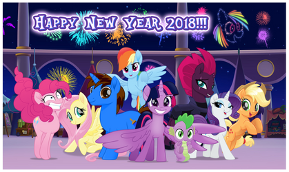 Happy New Year 2018!!! by AndoAnimalia