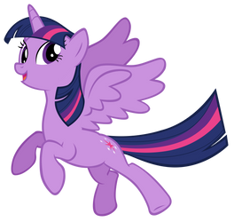 Twilight Sparkle Flying Off by AndoAnimalia