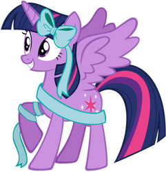 Twilight Sparkle Wrapped Up For Hearth's Warming by AndoAnimalia