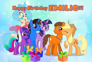 Gift: Happy Birthday Dracorider19!!! by AndoAnimalia