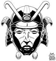Samurai Helmet T-Shirt design by AaronSmurfMurphy