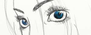 eye sketch by AMYisC0P1C