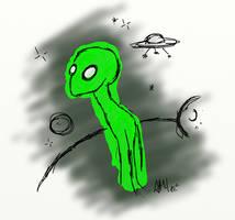 weird alien by AMYisC0P1C
