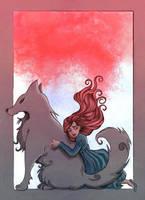 Sansa Stark and Lady by Celiarts