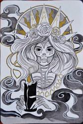 Dia de los Muertos - inktober 31 by Celiarts