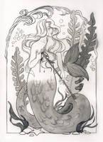 Inktober 2017 - The mermaid by Celiarts