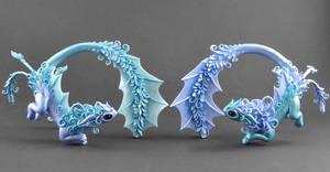 Water Dragons (twins) by MyOwnDragon