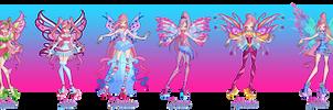 Winx Club - Feelie - All Transformations by Feeleam