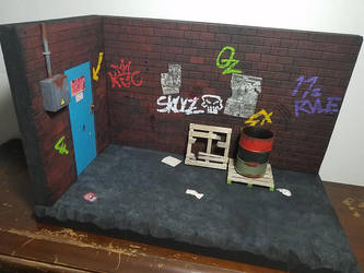 Action figure diorama - Back Alley by WemblyFraggle