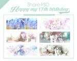 // SharePSD // Happy 17th Birthday !!!!! by chickenkimWYJ