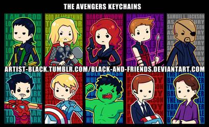 Avengers Keychain Designs v2 by artist-black