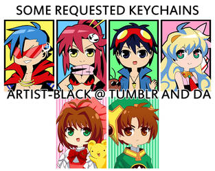 some requested keychains 2012 by artist-black