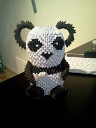 My first origami panda by maritim
