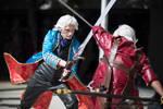 Vergil vs Dante action shot by volko-dav