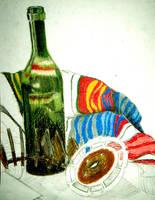 Wine Bottle by Piklom