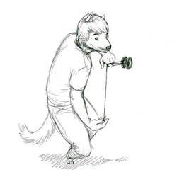 Jay yo Dog sketch by KumoWolf