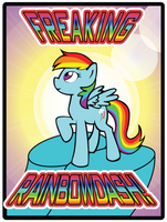 Freaking Rainbow Dash by GWBinvincible