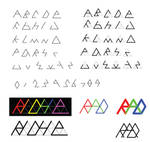 Triforce Font Prototype by GWBinvincible