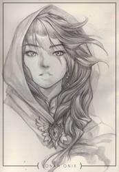 Art Sketch: Virgin Mary by jonah-onix