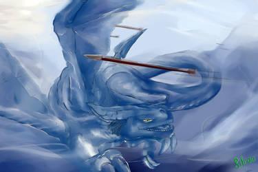 Blue dragon by gifron
