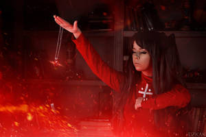 Fate/Stay Night - Rin Tohsaka cosplay by Disharmonica