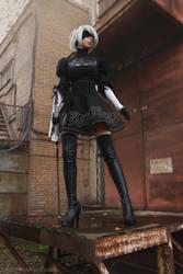 NieR: Automata -YoRHa No.2 Type B (aka 2B) cosplay by Disharmonica