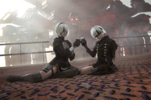NieR: Automata - 2B and 9S cosplay by Disharmonica
