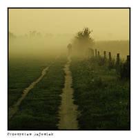 Person in fog by PGalien