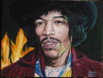 Jimi Hendrix by SteevDragon