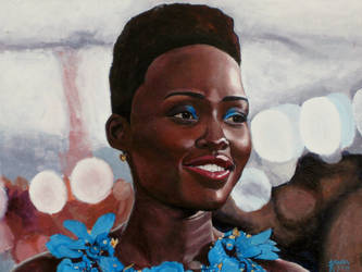 Lupita Nyongo Portrait by SteevDragon