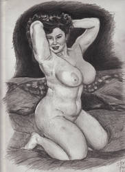Angel AKA Bobby Jo BBW Sketch Frontal Pose by SteevDragon