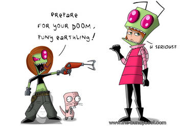 Invader Kim vs Zim Possible by The-Bundycoot