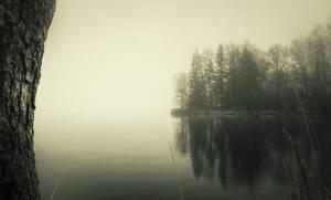 Misty Lake by Laazeri