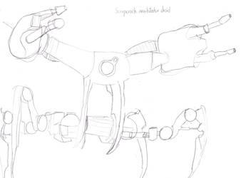 Scorpenek annhiliator droid (from SW comics) by JeditheSciFiFreak