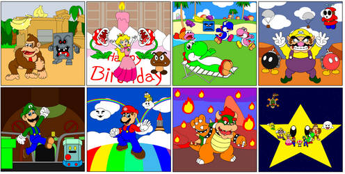 Mario Party Main Boards by DarkDiddyKong