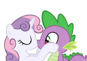 Spikebelle kiss by RozyFly10