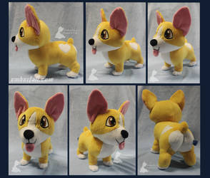 14in Chibi Corgi by EmberfallPlush