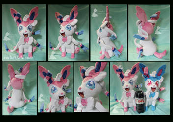 17in Sitting Sylveon by EmberfallPlush