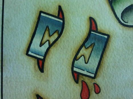 Tattoo Flash: Razor Blade by Bass-Slinger