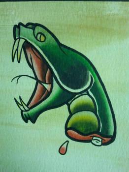 Tattoo Flash: Snake Head by Bass-Slinger