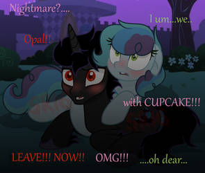 Nightmare with Cupcake by SuperRosey16