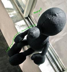 Mr. Game and Watch Plushie by IceKreamKonata