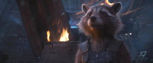 Avengers Infinity War-Rocket Raccoon by GiuseppeDiRosso
