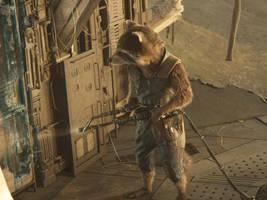 Guardians of the Galaxy Vol 2-Rocket Raccoon 21 by GiuseppeDiRosso