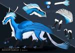 Adoptable blue dragon [Open] by Banlo