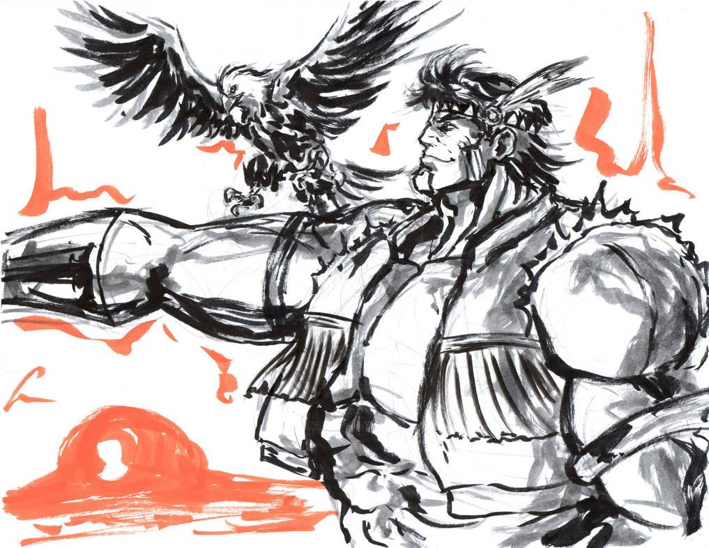 Benevolent Giant, T-Hawk by Horoko