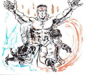 Inktober # 15 (1) - Team Japan by Horoko